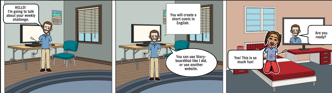 Tool for students: make assignment as a comic